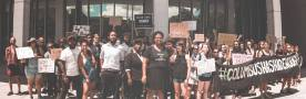 Photo: TieraDPhoto | June 19th, 2017 -- Community organizers held a demonstration outside of the Franklin County Courthouse while Deandre Miles of the #BlackPride4 awaited bond and release from jail. Protesters called to condemn the wrongful charges being pressed against the#BlackPride4, namely Deandre's heinous felony charge of aggravated robbery.